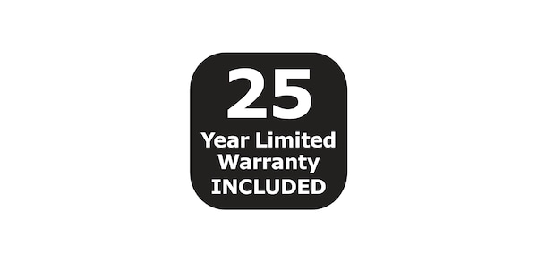 25 year limited warranty included