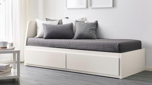 FLEKKE struttura letto divano 2 cassetti bianco - IKEA