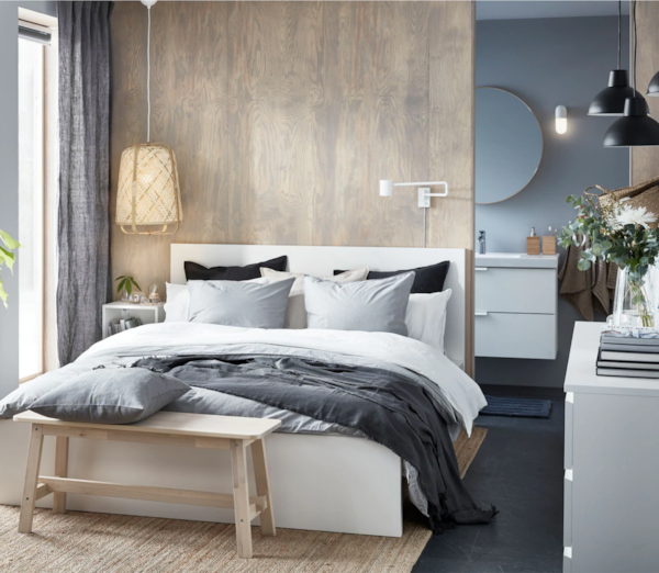 Micul și stilatul dormitor cu detalii de lux
