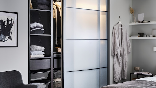 Discover the complete PAX wardrobe system and how it can work in your space.