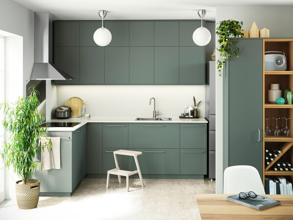 Cucina componibile BODARP grigio verde - IKEA
