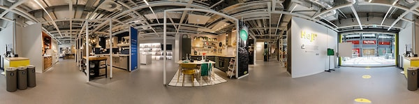 360°-Anblick von dem IKEA Planungsstudio in Berlin
