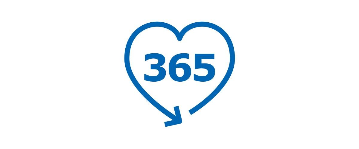 365-day return policy
