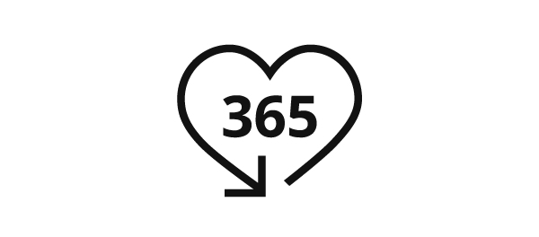 365 days return policy