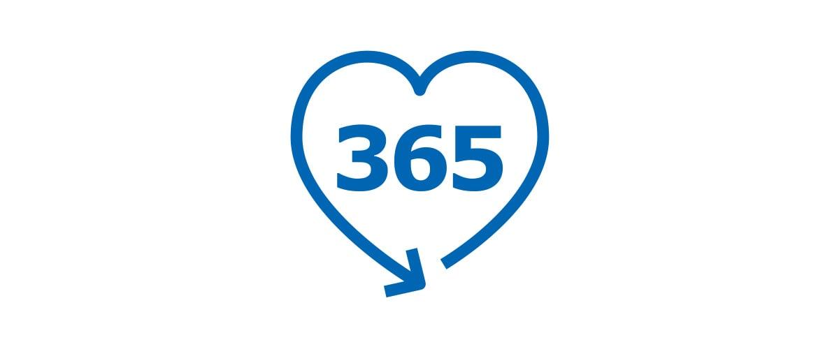 365 Tage Rückgaberecht