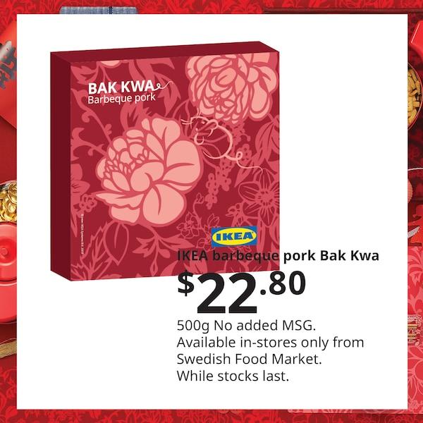 Barbeque pork Bak Kwa, IKEA Home Furnishings Singapore