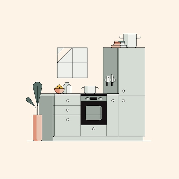 4 steps to buying an IKEA kitchen.
