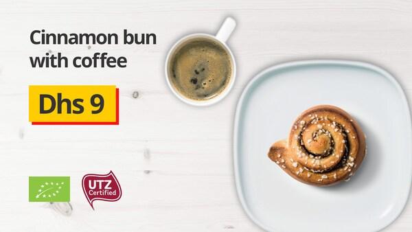 Cinnamon bun & coffee