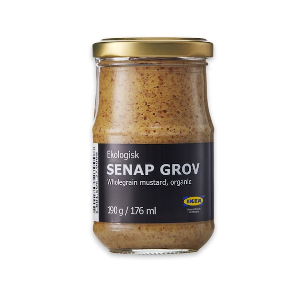 SENAP GROV Whole-grain mustard, 190g