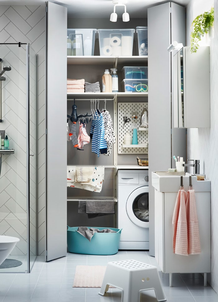 armadio ikea per lavanderia per scarpe e ascicamano