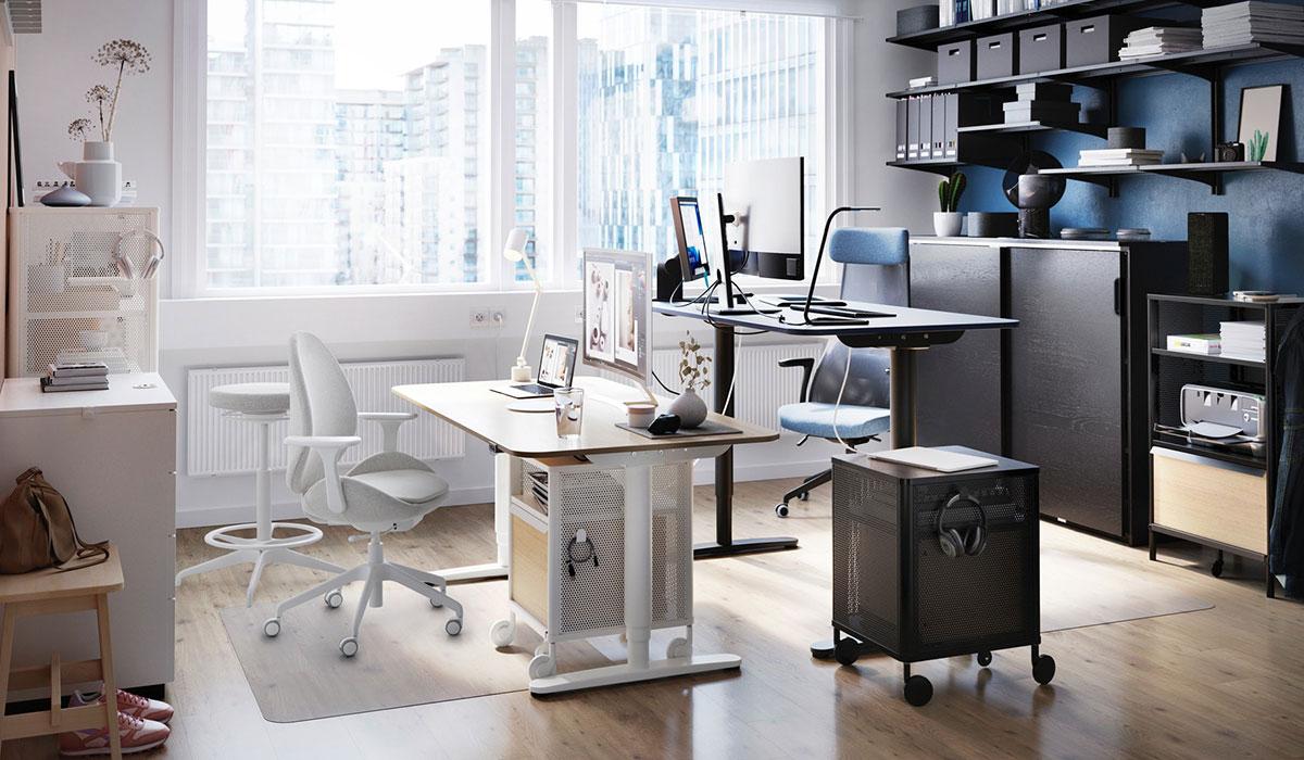 BEKANT scrivania regolabile in altezza, bianco
