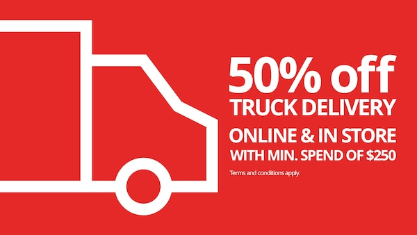 50% off truck delivery!