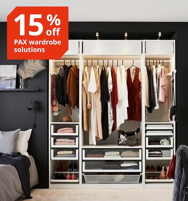 IKEA PAX wardrobes KOMPLEMENT interiors sale