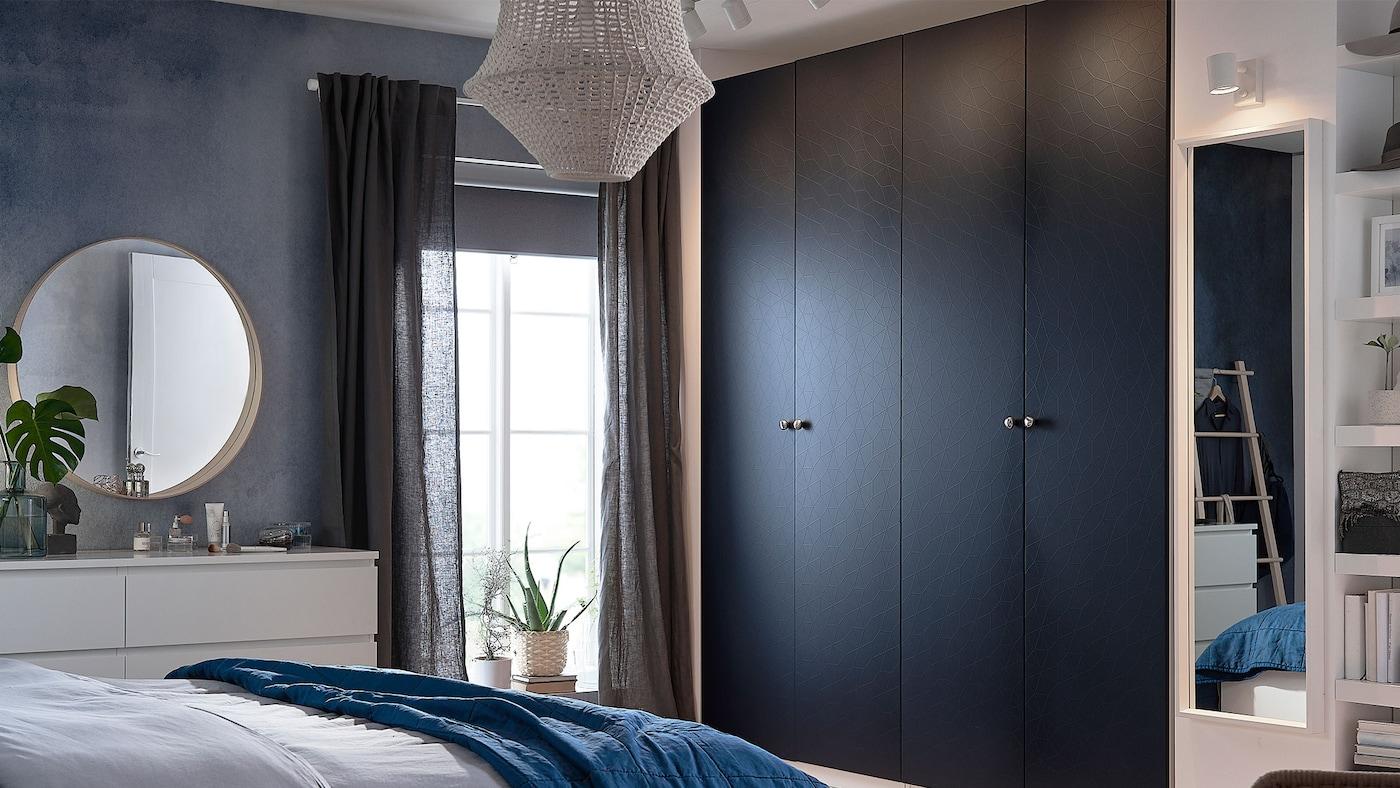 Dressing Armoire PAX Bleu IKEA