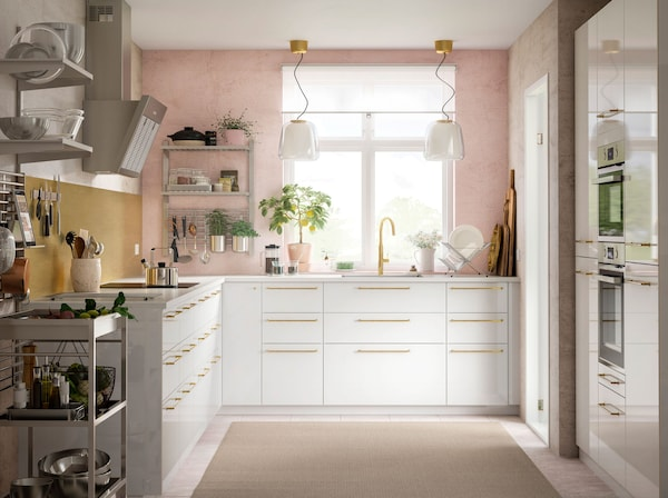 Schienen und Regale für eine offene Küche - IKEA Deutschland