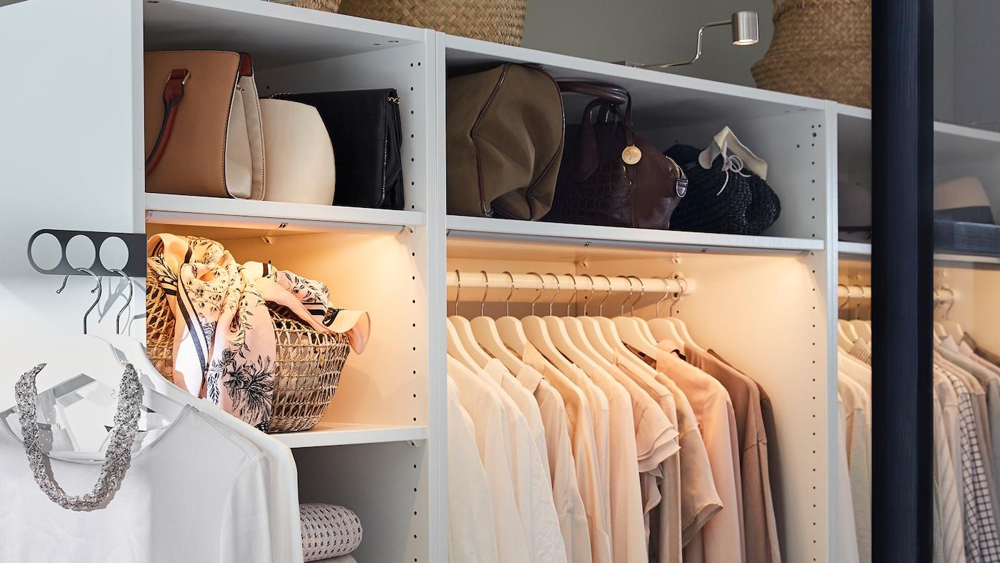 White open PAX wardrobe