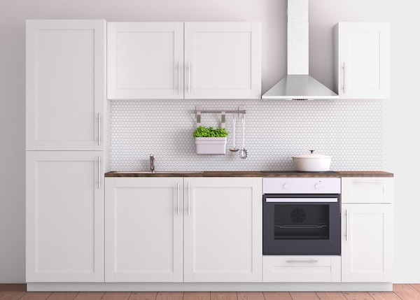 Ikea Küche Sävedal : metod k chenzeile mit s vedal fronten in wei ikea ~ Watch28wear.com Haus und Dekorationen