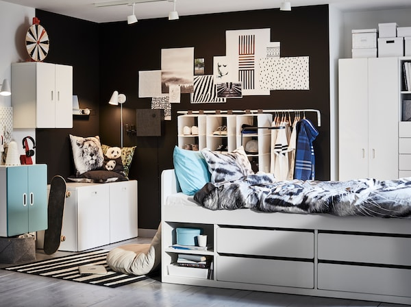 A Cool And Storage Friendly Teenage Room Ikea