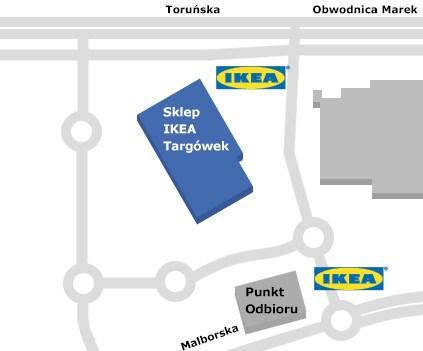 Mapa sklepu IKEA Warszawa Targówek