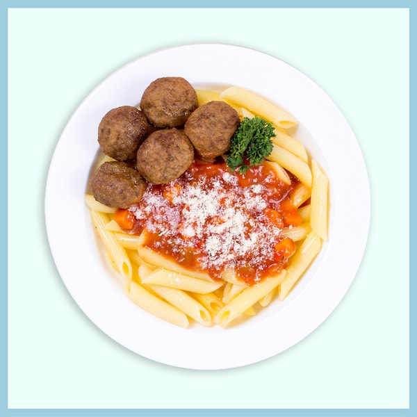 5pcs Beef Meatballs  with Pasta  RM10.40