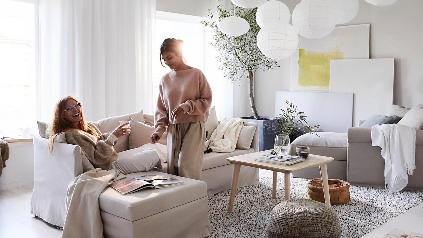 Decoración con textiles para ahorrar energía IKEA