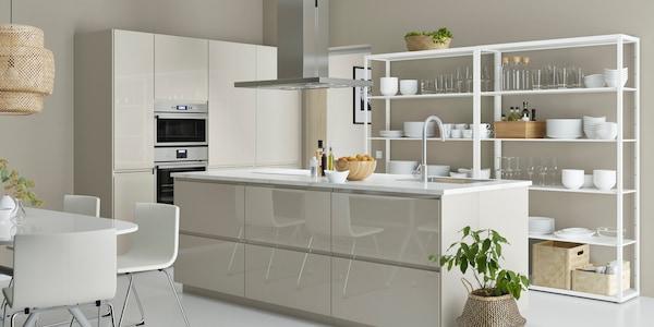 Cucina componibile VOXTORP beige lucido - IKEA