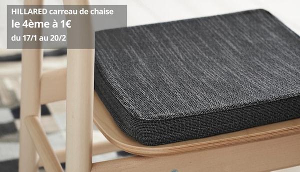 HILLARED carreau de chaise anthracite