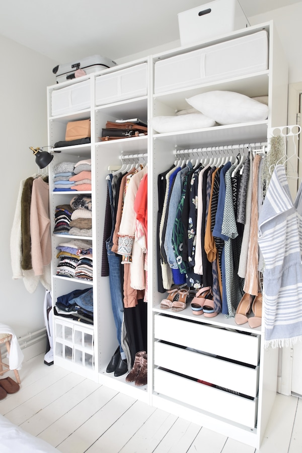 garde robe ikea komplement ouverte lade tiroir conseils une garderobekast