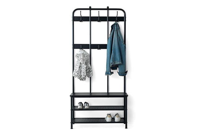 Shoe, coat & hat racks