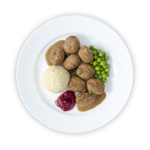 8 pcs Meatball with Green Peas