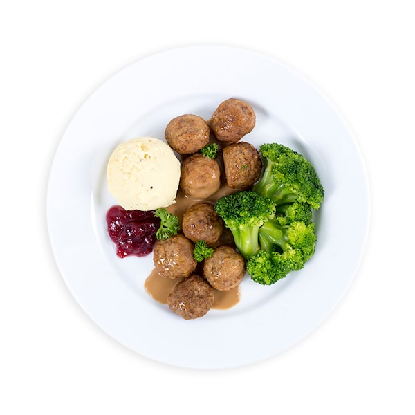 8 pcs Swedish Meatballs with ฺBroccoli THB120