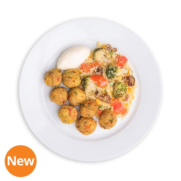 8 pcs Vegetable ball with Couscous and Sour cream