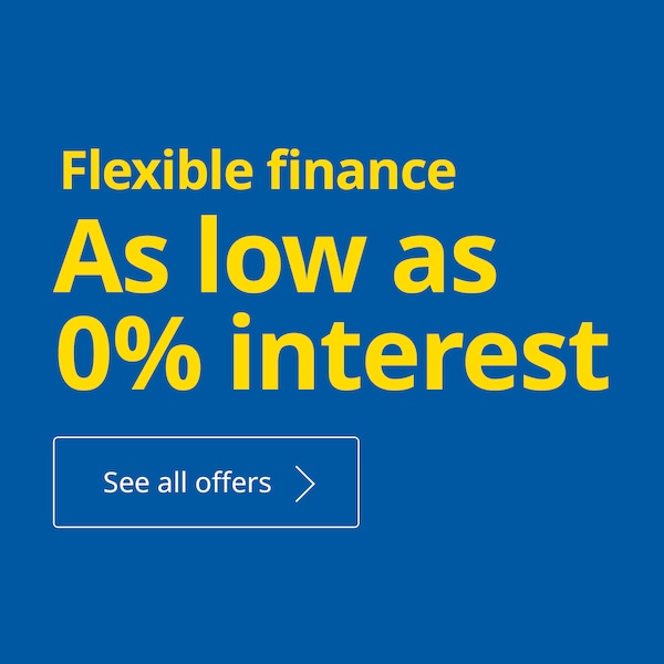 Flexible finance - As low as 0% interest, see all offers