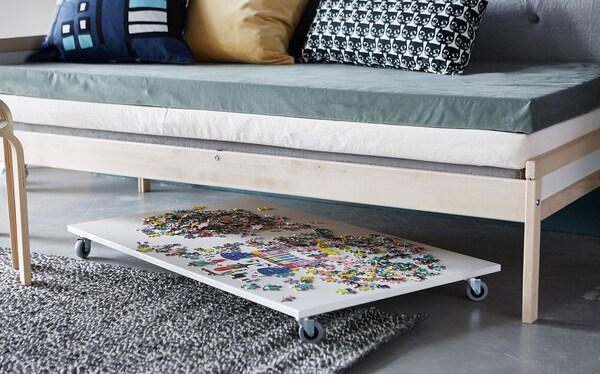 Puzzle Storage On Wheels Ikea
