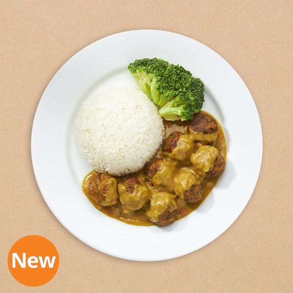 8pcs Veggie ball with rice and curry sauce