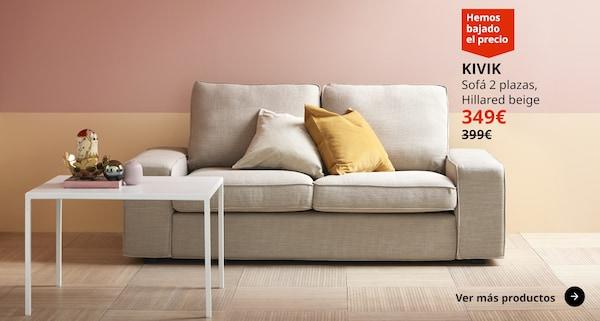 KIVIK Sofá 2 plazas, Hillared beige 349€