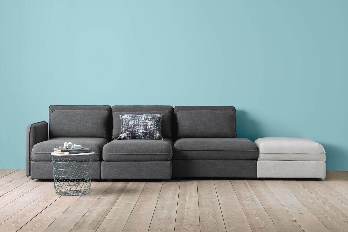 Modulares individualisierbares Sofa grau VALLENTUNA