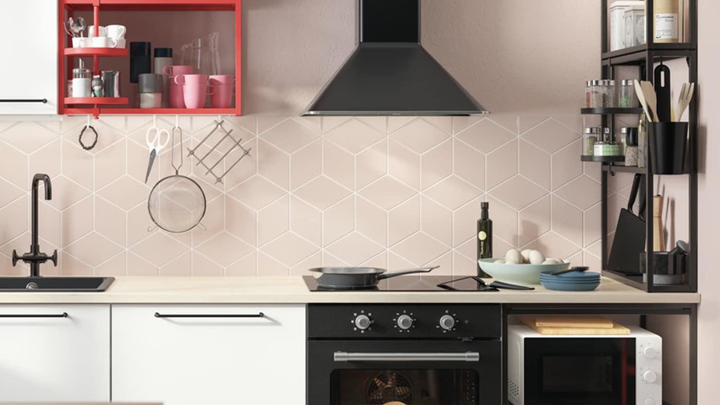 Een witte ENHET keuken