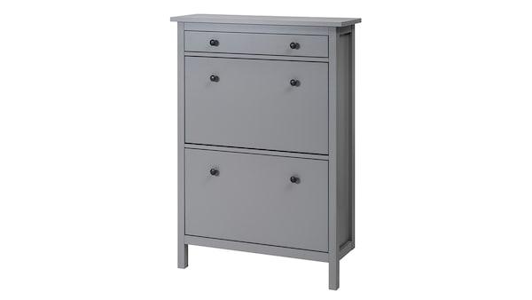 IKEA HEMNES Schuhschrank grau