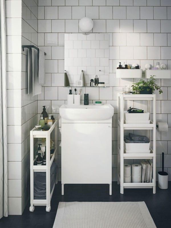 A bathroom update for a smart restart.