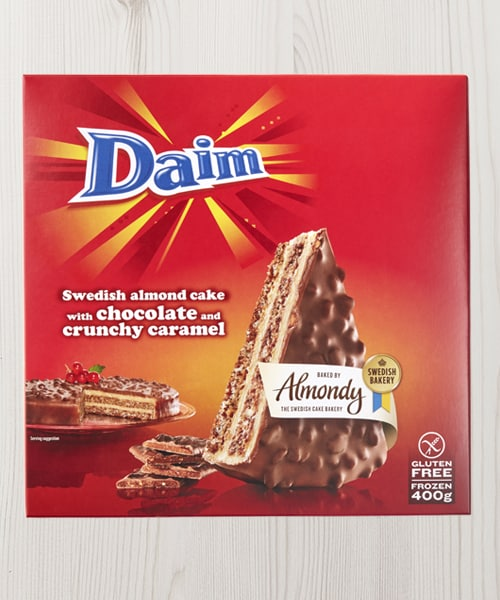 A box of DAIM cake.