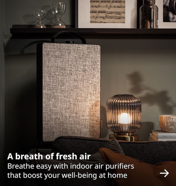 A breath of fresh air. Breathe easy with indoor air purifiers that boost your well-being at home.