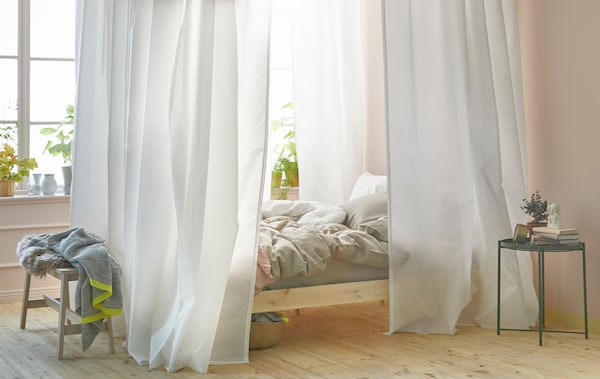 A DIY canopy bed - IKEA