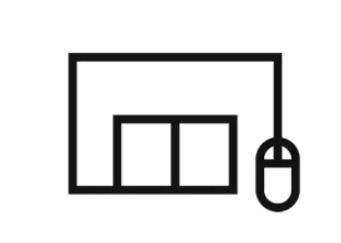 A click and collect icon