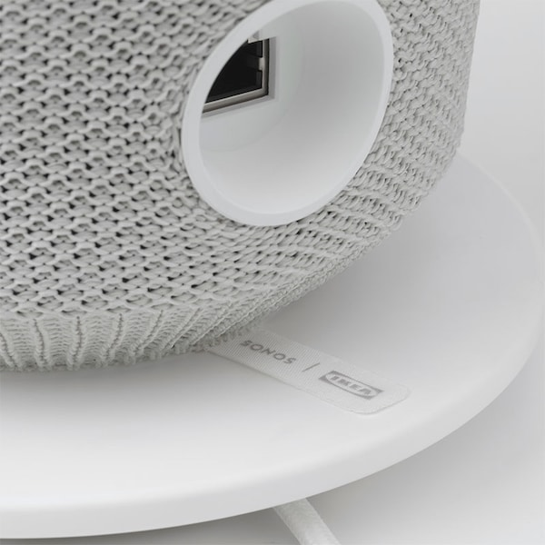 A close up of the back of SYMFONISK lamp.