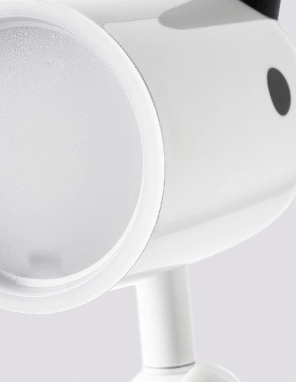 A close-up of the KRUX lamp.