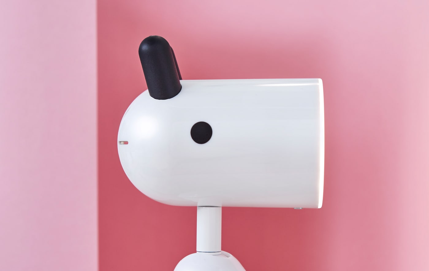 A close-up of the new KRUX lamp with eyes and ears.