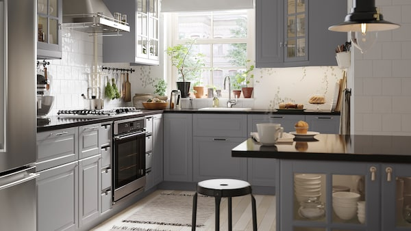 Trendy And Traditional Bodbyn Grey Kitchen Ikea Ca