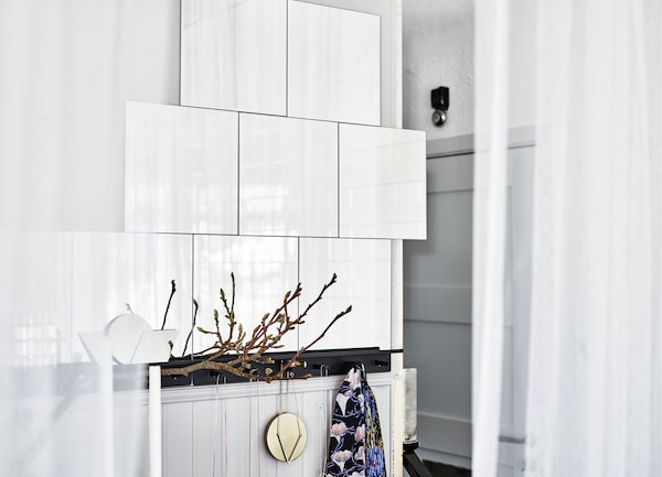 A crisp tile wall in white. What's your dream bedroom?