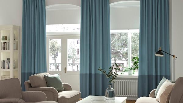 A customisable curtain system